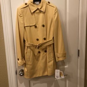 Carlisle Yellow Trench Coat Size 8